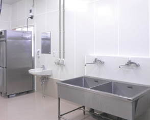 Available in the Interior panels for meet processing facilities