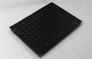 Checkered steel plate cover